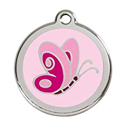 Medal Pink Butterfly Diameter 30mm