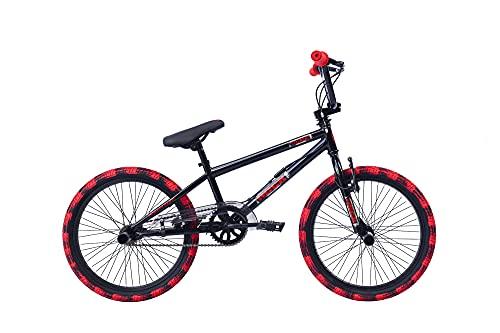 "20"" 20 Zoll Kinder Bike Rad Jugend Fahrrad Rad BMX KINDERFAHRRAD JUGENDFAHRRAD Freestyle 360° Rotor 4 Pegs Unisex Amigo Extreme Schwarz Rot"