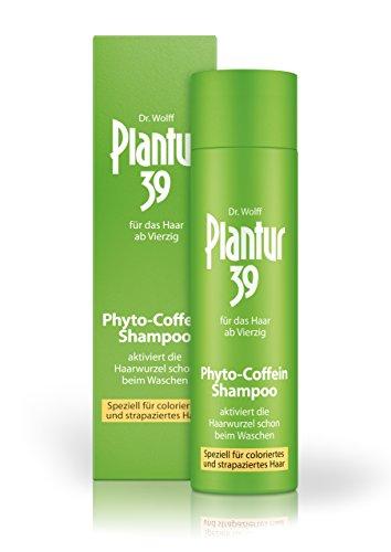 Plantur 39 Phyto-Coffein-Shampoo – speziell für coloriertes und strapaziertes Haar – Pflegeshampoo zur Vorbeugung vor menopausalem Haarausfall – 1 x 250 ml