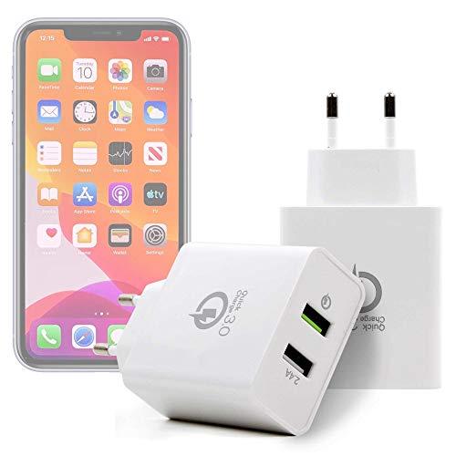 DURAGADGET Kit De Adaptadores con Cargador Compatible con Smartphone Apple iPhone 11, Apple iPhone 11 Pro, Apple iPhone 11 Pro MAX
