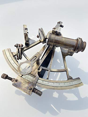 Malla Nautisches Messing-Navigationssextant Inc. | Schiffsinstrument | Antiker Sextant | 20,3 cm