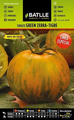 Oferta de Semillas Hortícolas - Tomate Green Zebra - Tigre - Batlle