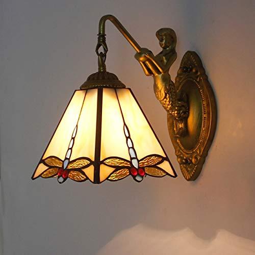 YIXIN2013SHOP Aplique de Pared Cuarto de baño Dormitorio Colorido Vidrio Sirena Luz de Pared Barra Corredor Lámpara de casa Lámpara Lámpara de Pared (Lampshade Color : D)