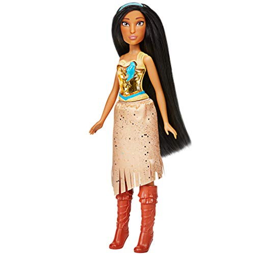 Disney Princess Royal Shimmer Pocahontas Doll, Fashion Doll with Skirt and Accessories, Toy for Kids Ages 3 and Up