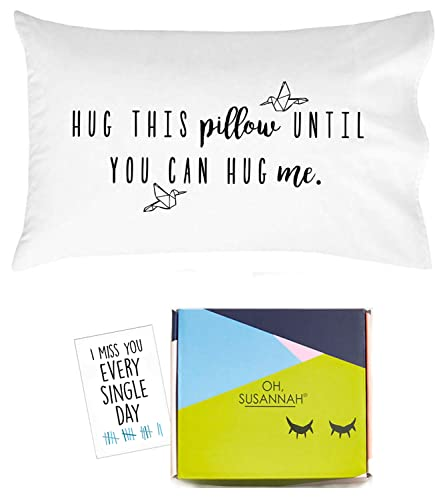 The Hug This Pillow Until You Can Hug Me Pillow   Get Well Gifts