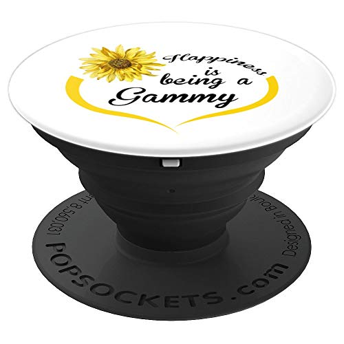 Gammy Gift: Happiness Is Being A Gammy PopSockets Grip and Stand for Phones and Tablets