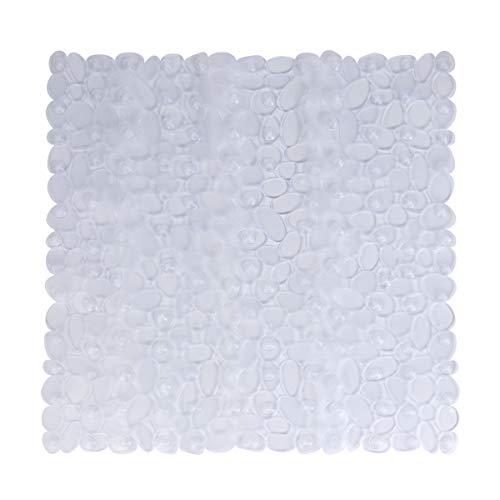 Tapis antidérapant pour Salle de Bain Tapis de sécurité pour Salle de Bain en Galets carrée Tapis antidérapants en PVC résistant à la moisissure et Anti-moisissure