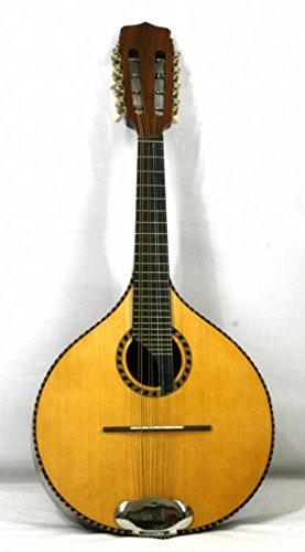 Musikalia Mandolina Plato irlandés de caoba, electrificada, Ricco mosaico la boca y la tabla armónica, teclado de ébano de concierto, de liuteria