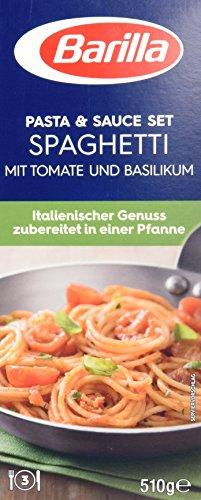 Barilla Pasta & Sauce Set Spaghetti Basilico, 14er Pack (14 x 510g)