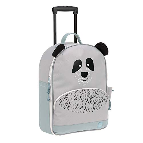 LÄSSIG Kinderkoffer Trolley Reisekoffer mit Teleskopstange und Rollen ab 3 Jahre/Trolley About Friends, Pau Panda, 43 cm, 17 L