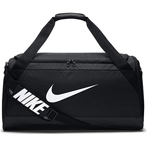 Nike Men Brasilia 6 Duffel Bag - Black/Black/White, 71.1 x 28 x 33 cm