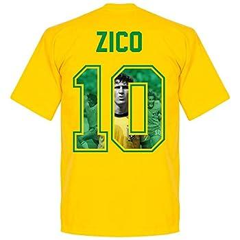Retake Brazil Zico 10 Gallery Team Tee - Yellow - XXL