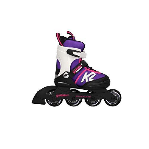 K2 Cadence Inline Skates Kinder 30E0876 I Inliner für Mädchen I Rollerblades Girls I Inliner für Kinder Mehrfarbig I Rollschuhe Mädchen I Kinder Inliner verstellbar (Größe 32-37)