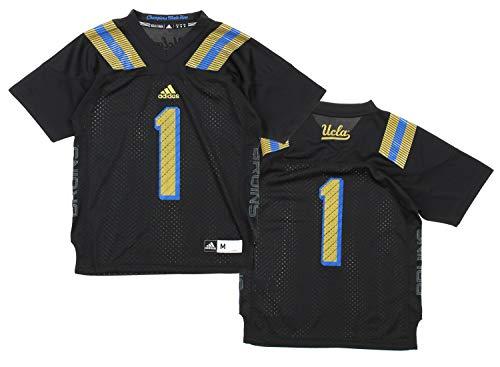 UCLA Bruins # 1NCAA juventud (8–20) Boy Caso del fútbol Jersey, negro con oro y azul, Atlético, Negro