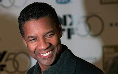 Actor Poster, American Poster, Denzel Washington Print, Smile Poster, Brown Eyes Print Size 24''x32'' (61x81 cm)