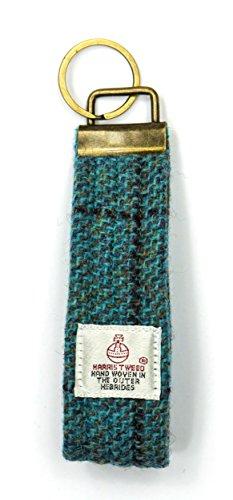 Harris Tweed Schlüsselanhänger Stoff Hoop/Loop Schlüsselanhänger schottisches Geschenk Herren &...
