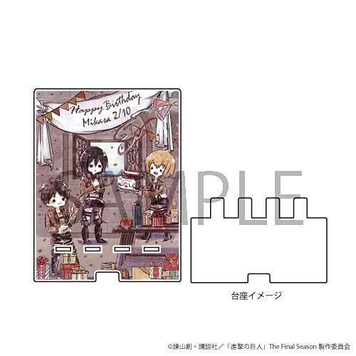 アクリルプレート「進撃の巨人」02/誕生日ver. ミカサ(グラフアート)