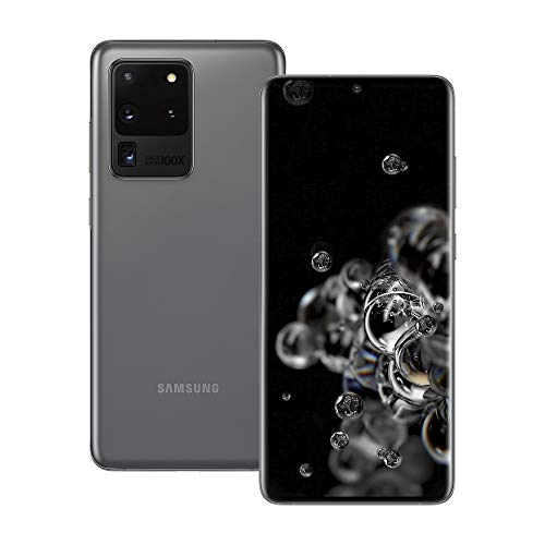 Samsung Galaxy S20 Ultra 5G 512GB SM-G988B/DS Dual-SIM (GSM Only | No CDMA) Factory Unlocked Smartphone - International Version (Cosmic Grey)