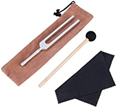 QIYUN Tuning Fork, 432 hz Tuning Forks for Healing with Silicone Hammer and Cleaning Cloth