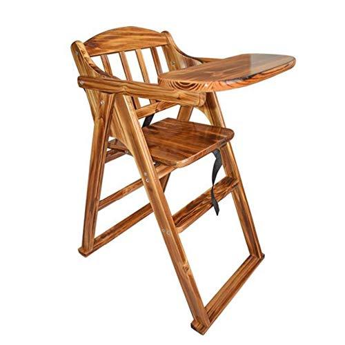 WDMMR Baby Holz Esstisch,Baby Esszimmerstuhl,Kinder Esszimmerstuhl,Multifunktionale Baby Dinette Booster Sitz Baby Essen Stuhl