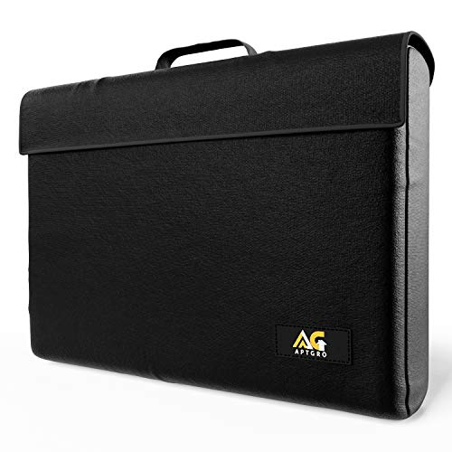 Large Fireproof, Waterproof Money & Important Document Holder Storage Bag, Silicone Coated | Fire Safe Document Box, APTGRO Fire-Resistant & Fireproof Document Bag | Safe Box Fireproof Waterproof