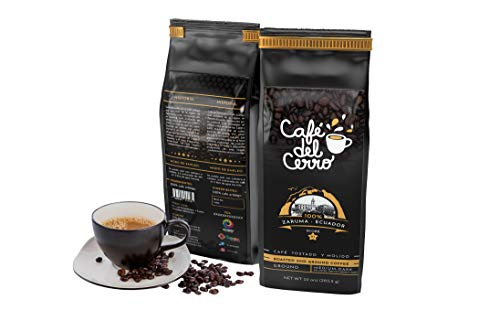 Arabica Coffee Flavored Ground Coffee, Medium Dark Roasted Caffeinated | 10 Ounce Pack by Cafe Del Cerro