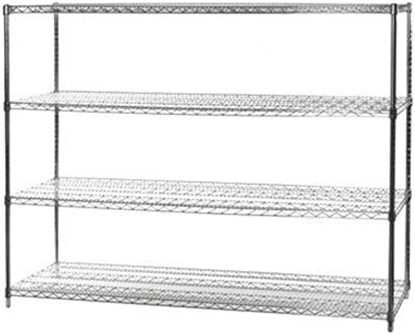 24 D X 60 W X 54 H Chrome Wire Shelving With 4 Shelves