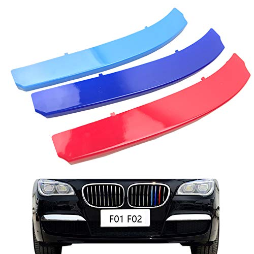 lanyun for BMW F01 F02 Grill Stripes Insert Trim m Color Decorate for 2014-2015 7 Series Kidney Larger Grille 9-Beam