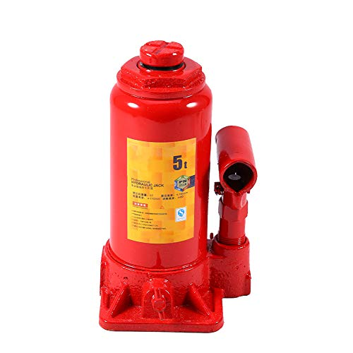 Cric Idraulico Auto a Bottiglia Martinetti idraulico verticali Carrello portabottiglie a sollevamento idraulico verticale per martinetti 5T Bottle Jack per carichi pesanti per auto