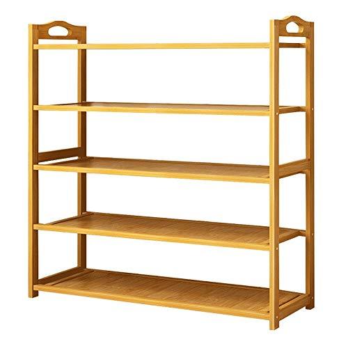 KCSds 5 Tier schoenenrek, Stellingen Rack, moderne, minimalistische Seat Opslag Rack Bamboo Shelf Storage RoomStanding Organizer