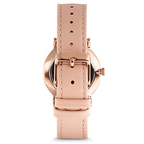 OriginalGrainレディース高級木製腕時計アバロンコレクションアナログ腕時計木製&ステンレススチール製腕時計日本製クォーツムーブメント34mmローズゴールド