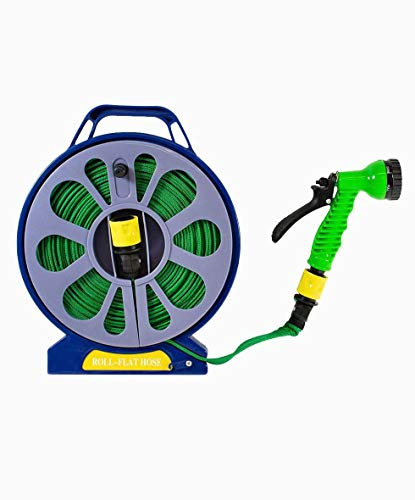 HAPIDS Flat Garden Hose with Spray Nozzle - 15cm. Provides quality, tight...
