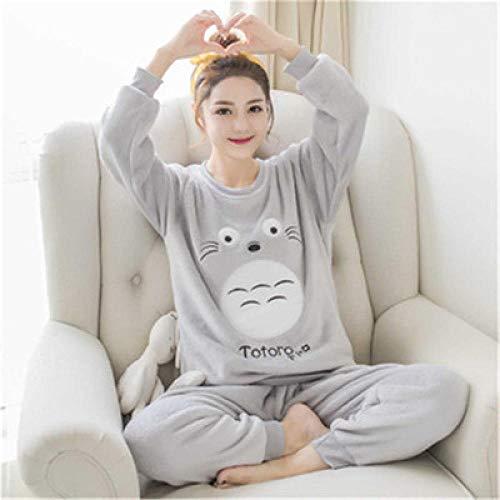 Wenhua Pijama Mujer, Pijamas Femeninos de Dibujos Animados en otoño e Invierno, Mi Vecino Totoro-M, Piyama de Mujer Verano