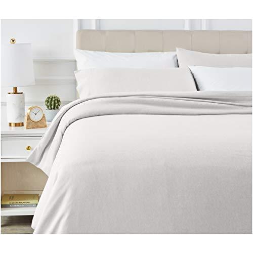 Amazon Basics - Juego de ropa de cama con funda de edredón, de microfibra, 230 x 220 cm, Gris claro