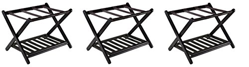Find Discount Winsome 92436 Luggage Rack with Shelf (Pack of 3)