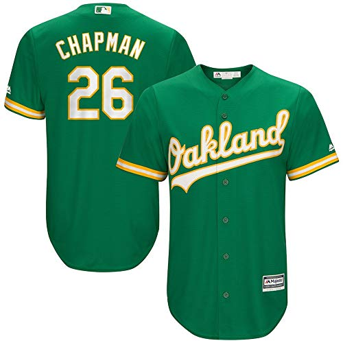 YQSB Oakland Athletics Team # 26 Chapman bordó el Jersey de béisbol