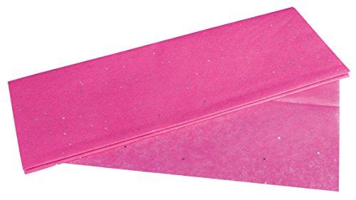 Rayher 67271264 Seidenpapier Glitter, pink, 50x75cm, 3 Bogen, 17g/m², lichtecht, farbfest, leicht transparentes, dünnes Papier, Geschenkpapier, Papier zum Basteln