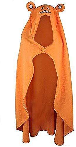 Cabo de Capucha Naranja de Halloween Capa de Cosplay de Umaru Chan Colcha de Manta de la Marmota Capa Animal de Carnival 160cm*110cm