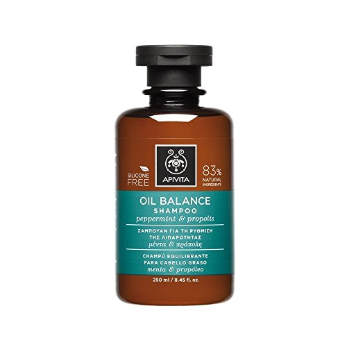 Apivita - Champú equilibrante cabello graso menta & propóleo