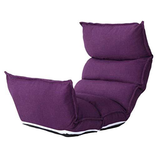 Liegestuhl Gartenliege Lounge Sessel Lazy Couch Stuhl Einzel Tatami faltbare Schlafsofa Moderne Minimalist Schlafzimmer Balkon Erkerfenster Kleine Lehnstuhl 122 × 50 × 13cm (Farbe, Lila),Lila