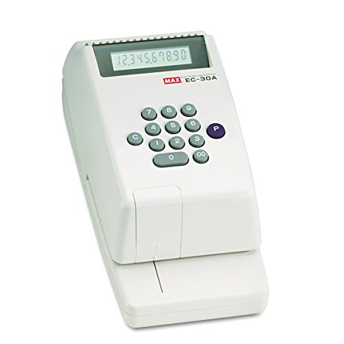 Max EC-30A Max Model EC-30A Electronic Checkwriter, 10-Digit, 14-3/8w x 9-1/8d x 3-3/4h