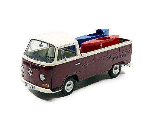 Schuco 450018200 - VW T2a mit Seifenkisten 1:18, Mehrfarbig