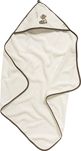 Playshoes Kinder Frottee-Kapuzentuch Bär, Accappatoio Bambina, Beige (beige), Taglia unica