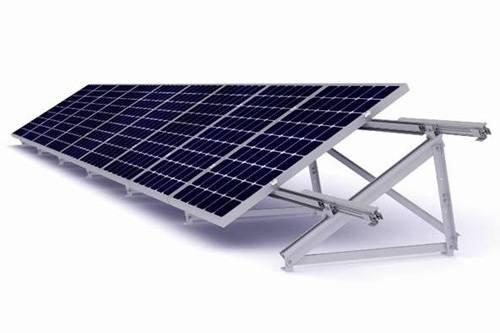 Estructura metálica placa Solar para cubierta plana - 1 Modulo