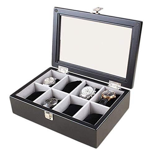 XZJJZ Joyería de Caja - Caja de Reloj de Pulsera de Madera de joyería Caja de Almacenamiento Caja de presentación Colección Caja de Almacenamiento (Color : B)