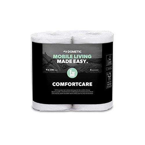 Dometic 9107200081 ComfortCare speciaal, snel oplosbaar toiletpapier voor het campingtoilet, 4 rollen, aantal 4