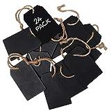 Mini Pizarra (24 Piezas) - 8 x 5 cm Borrable Etiqueta Pizarra Dos Lados para Colgar Mensajes, Fiestas, Números de Mesa, Carteles de Alimentos, Regalos, Decoración de Eventos, Etiquetas de Precio
