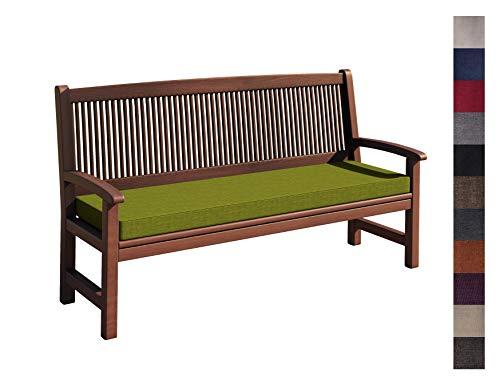 sunnypillow Coussin pour Banc de Jardin 140 x 30 x 5 cm plusieures Tailles et Couleurs à Choisir Assise Confortable pour Banc de terrasse/Balcon/Banquette/Galette de Chaise Vert Limone