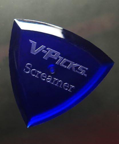 Cheap mail order shopping V-Picks Screamer Indefinitely Sapphire Blue Guitar Picks x3 SCRBL3 Bonus w