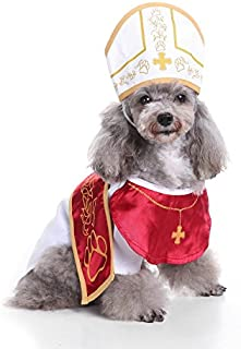 Stock Show Pet Dog Cosplay Godfather Suit with Hat Holy Hound Dress Xmas Party Costume